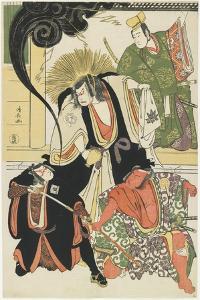 Scene from the Akbuki Play Yukimotsutake Furisode Genji, 1785 by Torii Kiyonaga