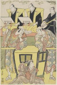(Scene from the Shosa Modori Kago Iro Ni Aikata), 1788 by Torii Kiyonaga