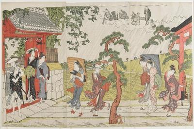 Sudden Shower at the Mimeguri Shrine, 1787