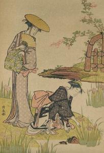'The Iris Garden', c1784 by Torii Kiyonaga