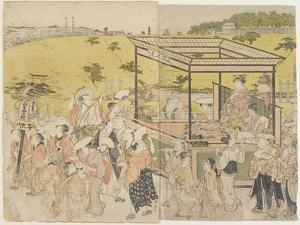 The Sanno Festival Procession, 1788 by Torii Kiyonaga
