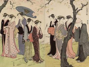 The Third Month (Sangatsu), from the Series Twelve Months in the South (Minami Juni Ko), C.1784 by Torii Kiyonaga