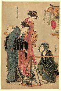 Ueki Fukujuso Uri by Torii Kiyonaga