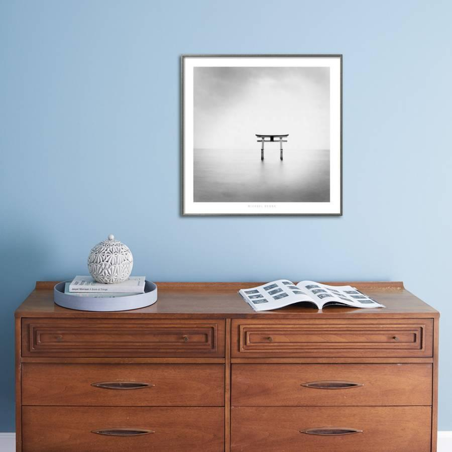 Torii Takaishima Honshu An 2002 Framed Art Print By Michael Kenna