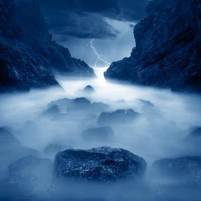Tormenta en ixtapa Blue-Moises Levy-Photographic Print