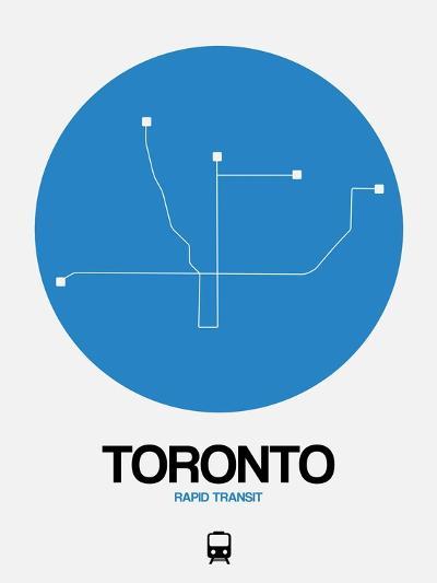 Toronto Blue Subway Map-NaxArt-Art Print