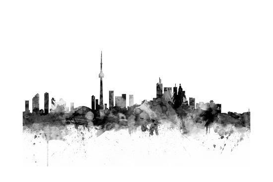 Toronto Canada Skyline-Michael Tompsett-Art Print
