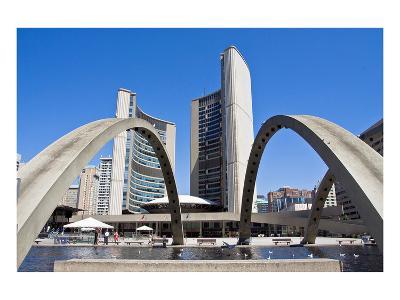 Toronto City Hall & Fountain--Art Print