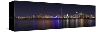 Toronto - City Night Panorama--Stretched Canvas Print