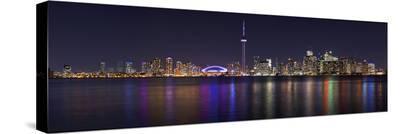 Toronto - City Night Panorama--Stretched Canvas Print