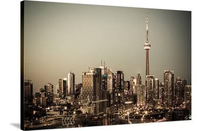 Toronto Downtown--Stretched Canvas Print