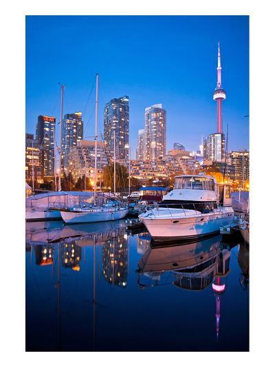 Toronto Harbor Area at Dusk--Art Print