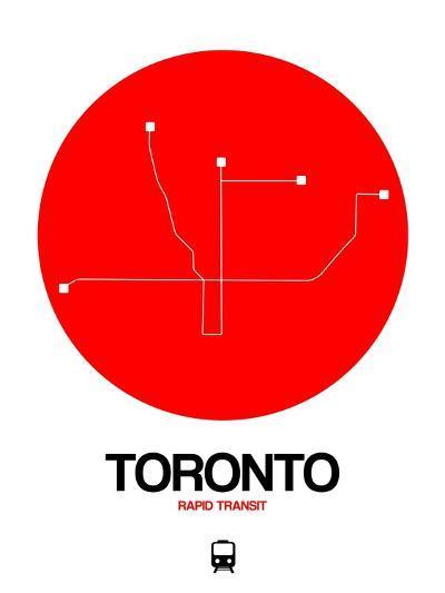 Toronto Red Subway Map-NaxArt-Art Print