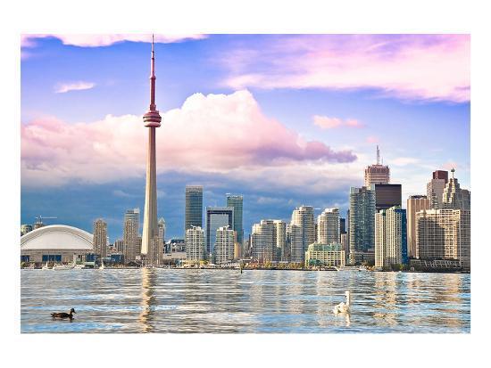 Toronto Skyline Center Island--Art Print