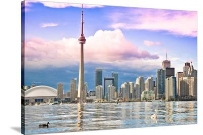 Toronto Skyline Center Island--Stretched Canvas Print