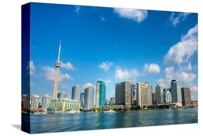 Toronto Skyline from the Lake--Stretched Canvas Print