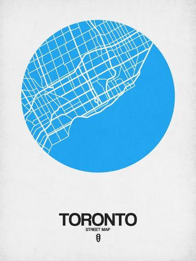 Toronto Street Map Blue-NaxArt-Art Print
