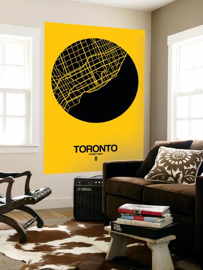 Toronto Street Map Yellow-NaxArt-Wall Mural