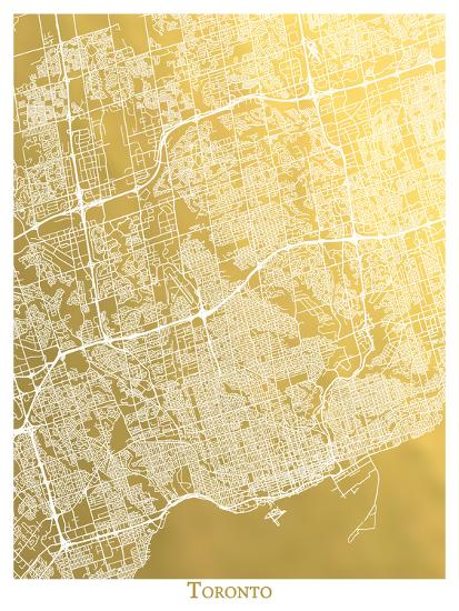 Toronto-The Gold Foil Map Company-Art Print