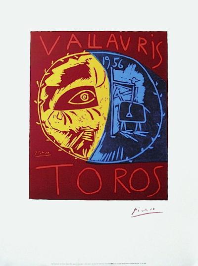 Toros Vallauris-Pablo Picasso-Serigraph