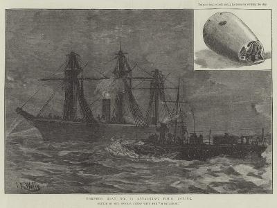 Torpedo Boat No 78 Attacking HMS Active--Giclee Print
