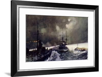Torpedo Boats in Action at the Naval Manoeuvres-Charles Edward Dixon-Framed Giclee Print