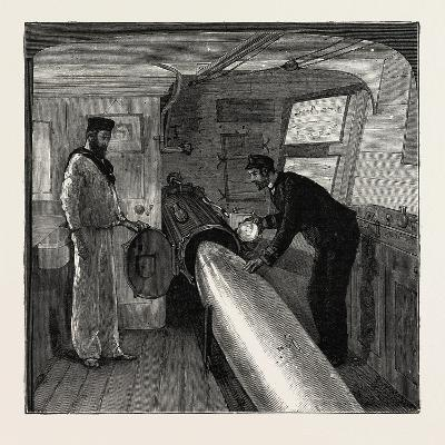 Torpedo Gun Boat, Commander's Cabin in the after Part of the Ship, 1888--Giclee Print