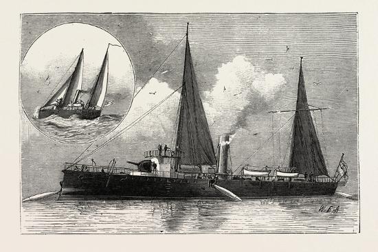 Torpedo Gun Boat, the Rattlesnake Launching Torpedoes, 1888--Giclee Print