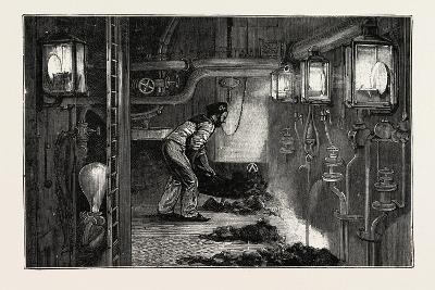 Torpedo Gun Boat, the Stoke Hole, 1888--Giclee Print