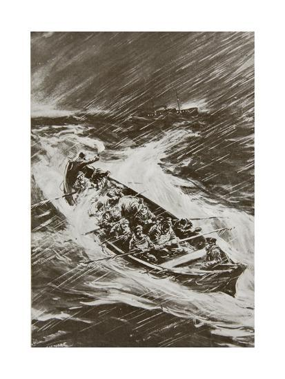 Torpedoed Collier's Crew Left to Drown--Giclee Print