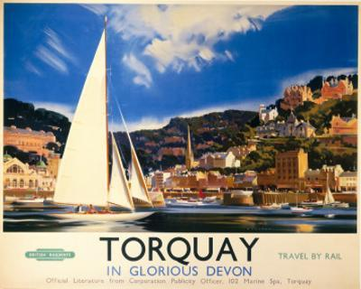 Torquay in Glorious Devon, British Railways, c.1950s