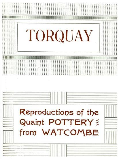 'Torquay - Reproductions of the Quaint Pottery from Watcombe', 1919-Unknown-Giclee Print