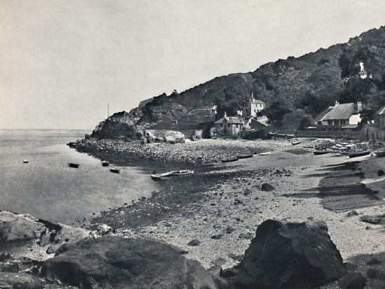 'Torquay - The Beach, Babbicombe', 1895-Unknown-Photographic Print