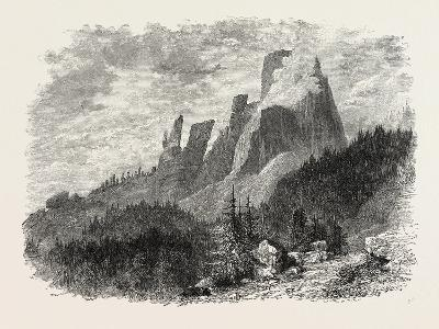 Torre D' Averan, Dolomites, Italy, 19th Century--Giclee Print