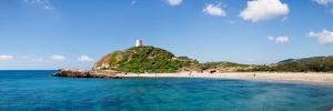 Torre Di Chia with the Saracen Tower at the Costa Del Sud, Sulcis, Sardinia, Italy