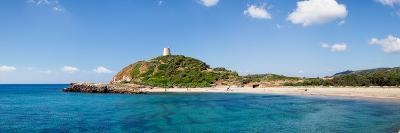 Torre Di Chia with the Saracen Tower at the Costa Del Sud, Sulcis, Sardinia, Italy--Photographic Print