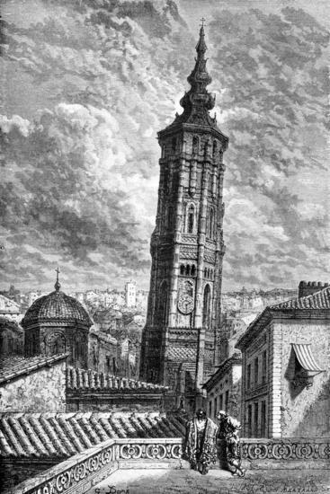 Torre Nueva, Zaragoza, Spain, 1929-Gustave Dor?-Giclee Print