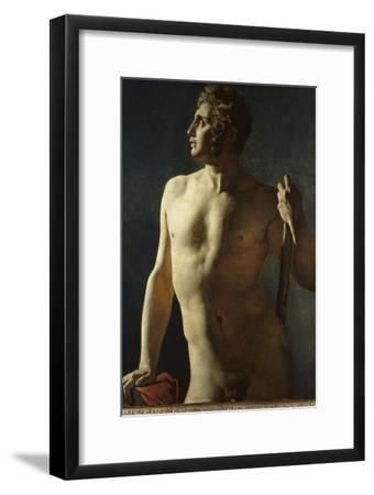 Torse ou demi-figure peinte-Jean-Auguste-Dominique Ingres-Framed Giclee Print