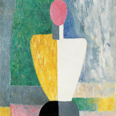 Torso (Figure with Pink Fac), 1928-1932-Kazimir Malevich-Giclee Print