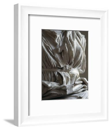 Torso of a marble statue from the Capitoline Hill, Rome, Italy-Werner Forman-Framed Photographic Print