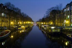 Amsterdam, New Prinsengracht, Houseboats by Torsten Elger