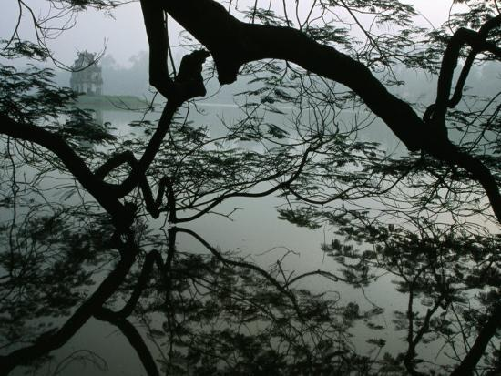 Tortoise Tower in Hoan Kiem Lake Has Become Symbol for Hanoi, Hanoi, Vietnam-Stu Smucker-Photographic Print