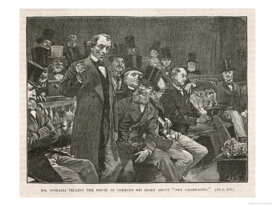 Tory Prime Minister Benjamin Disraeli Speaks During a Debate on Irish Home Rule--Giclee Print