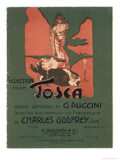 Tosca, the Death of Scarpia-Adolfo Hohenstein-Giclee Print