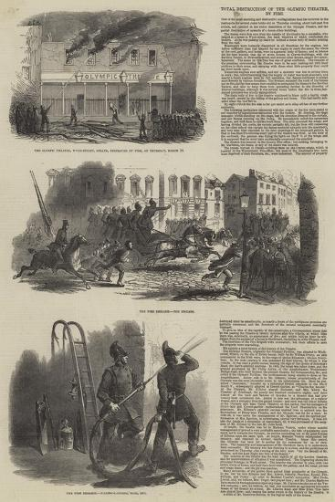 Total Destruction of the Olympic Theatre, by Fire--Giclee Print