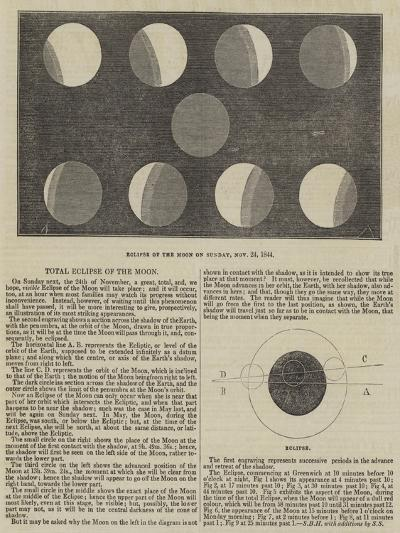 Total Eclipse of the Moon--Giclee Print