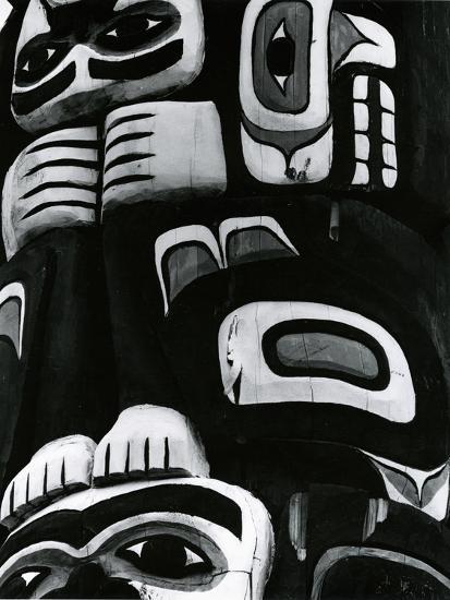 Totem Pole Detail, Alaska, c. 1970-Brett Weston-Photographic Print