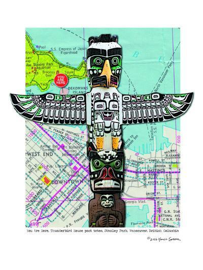 Totem Vancouver--Art Print