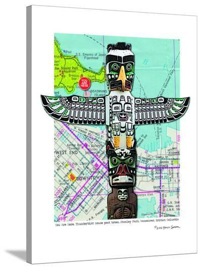 Totem Vancouver--Stretched Canvas Print