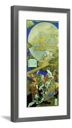 Chinese Courtesan Yang Guifei Meeting Luo Gongyuan on a Cloud Outside the Moon Palace